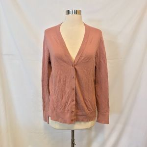 LOFT Blush Colored Button Down Cardigan Size L
